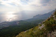 Croacia - parque de naturaleza de Biokovo y mar adriático en la puesta del sol, Sveti Jure imagen de archivo libre de regalías