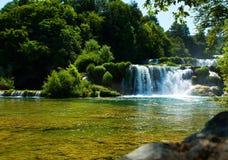 Croacia Watefall fotografía de archivo libre de regalías