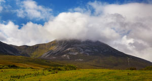 Croagh Patrick mountain Royalty Free Stock Photography