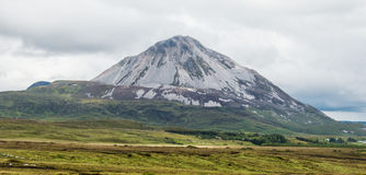 Croagh Patrick mountain. View of Croagh Patrick mountain in county Mayo Ireland sacred to Saint Patrick Irelands patron saint Stock Image