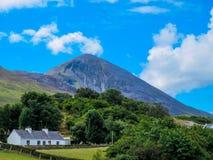 Croagh Patrick, Saint Patrick`s Stack, nicknamed the Reek stock photos