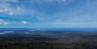 Croajingolong Nationaal die Park van Genoa Peak, Victoria, Australië wordt bekeken royalty-vrije stock foto's