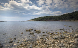 Croati glasheldere kust Royalty-vrije Stock Fotografie