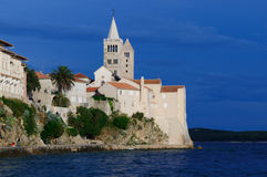 Croatia. Rab castle on the night Royalty Free Stock Photo