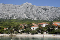 Croatia. Resort in Orebic - small touristic town in Croatia Royalty Free Stock Image