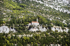 Croatia. Old lonely church in Croatian mountains Stock Image