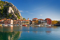 Croatia. Historic town omis with river cetina, croatia Royalty Free Stock Photography