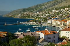 Croatia. View of Senj, coastal town in Croatia Stock Image