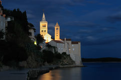 Croatia. Rab castle on the night Royalty Free Stock Images