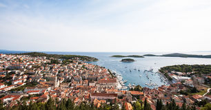 Croatia from above Royalty Free Stock Images