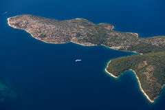 Croatia aerial view Royalty Free Stock Photo