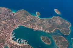 Croatia aerial view Stock Images