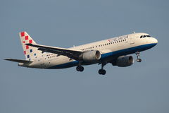 Croatia Airlines Aibus. Croatia Airlines is the flag carrier of the Republic of Croatia and is a member of Star Alliance, based is Zagreb Royalty Free Stock Photo