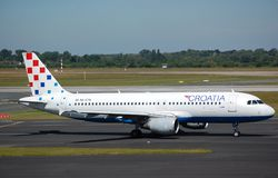Croatia Airlines Airbus 320 Royalty Free Stock Photo