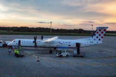 Croatia Airlines si precipita Q400 9A-CQC immagine stock