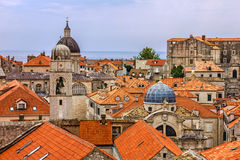 Croatia - ancient town Dubrovnik architecture. Royalty Free Stock Photography