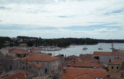 Croatia. Bay in Porec town royalty free stock images