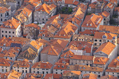 Croatia: Bird eye view to Dubrovnik Royalty Free Stock Image