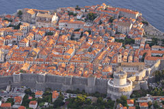 Croatia: Bird eye view to Dubrovnik Royalty Free Stock Images