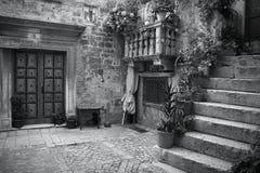 Croatia black white Royalty Free Stock Photo