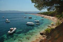 Croatia -Brac - Bol. Croatia - island Brac beach Bol Royalty Free Stock Images