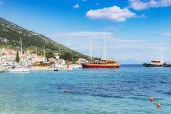 Croatia Brac Bol harbour Stock Photography