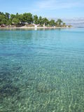 Croatia, Brac island, beach near Supetar Royalty Free Stock Photos