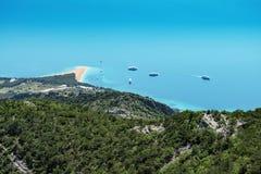 Croatia Brac vidova gora golden horn view Royalty Free Stock Images