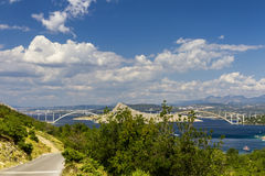 Croatia - the bridge to the island Stock Images