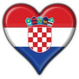 Croatia button flag heart shape Stock Images