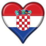 Croatia button flag heart shape Stock Images