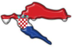 Croatia button flag map shape Stock Image