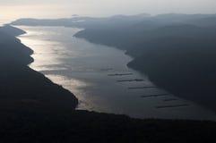 Croatia - canal de Limski imagens de stock