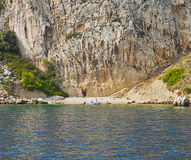 Croatia, Ciovo island outer coast with a small sandy bay Royalty Free Stock Photography