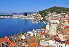 Croatia, city at mediterranean sea Stock Image