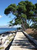 Croatia, console de Brac, Supetar Imagem de Stock Royalty Free