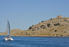 Croatia, cruising along Kornati islands Royalty Free Stock Images
