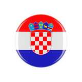 Croatia 3d button Royalty Free Stock Photography