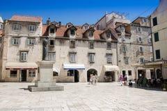 croatia Dalmatia sławnego dziedzictwa starego miejsca rozszczepiony miasteczka unesco świat Fotografia Royalty Free