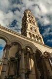 croatia Dalmatia sławnego dziedzictwa starego miejsca rozszczepiony miasteczka unesco świat Diocletian ` s pałac zdjęcie stock