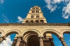 croatia Dalmatia sławnego dziedzictwa starego miejsca rozszczepiony miasteczka unesco świat Diocletian ` s pałac obraz stock