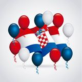 Croatia design Stock Photography
