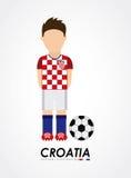 Croatia design Royalty Free Stock Image