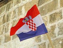 Croatia& x27 ; drapeau national de s Images libres de droits