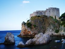 Croatia, Dubrovnik. Croatia, town Dubrovnik, castle on the rock Royalty Free Stock Image