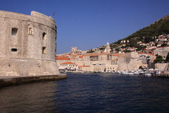 Croatia Dubrovnik Ancient Harbor Stock Photo
