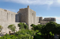 Croatia, Dubrovnik. The city walls of Dubrovnik date back to the Middle Ages, and were completed as you see them today in the 14th Century Royalty Free Stock Photography
