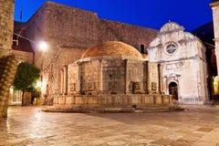 croatia Dubrovnik fontanny onofrio s zdjęcie stock
