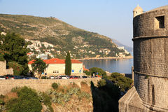 Dubrovnik. Croatia. Dubrovnik. The fortress and Mintchet tower, which are named after the aristocratic family of Dubrovnik Minchet, who sacrificed their land Royalty Free Stock Photos