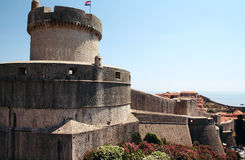 Dubrovnik. Croatia. Dubrovnik. The fortress and Mintchet tower, which are named after the aristocratic family of Dubrovnik Minchet, who sacrificed their land Royalty Free Stock Photography